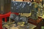Sale 8331 - Lot 1047 - Dog Figure Base Table Lamp