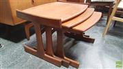 Sale 8383 - Lot 1004 - G-Plan Teak Nest of Three Tables