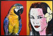 Sale 8374 - Lot 561 - Gillie & Marc (XX - ) - Suki and Parrot 122 x 182.5cm