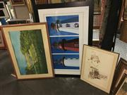 Sale 8659 - Lot 2133A - Group of (3) Assorted Decorative Prints (framed/various sizes)