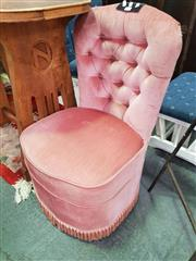 Sale 8672 - Lot 1066 - Pink Upholstered Bedroom Chair