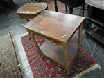 Sale 7919A - Lot 1747 - Cedar and Blackwood Ladies Worktable with a Fabric Lined Basket