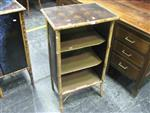 Sale 7923A - Lot 1188 - Painted 3 Drawer Open Bamboo Shelf