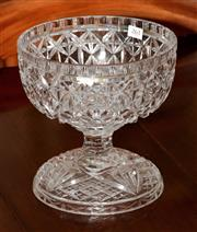 Sale 8040 - Lot 99 - Crystal Two Piece Table Centrepiece