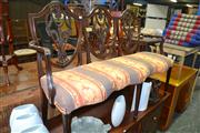 Sale 8093 - Lot 1162 - Antique Mahogany 3 Seater Settee w Carved Back