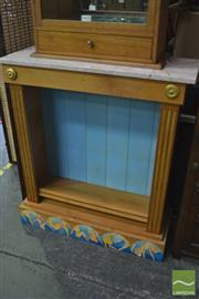Sale 8326 - Lot 1356 - Marble Top Bookcase