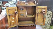 Sale 8371 - Lot 1034 - Oak Smokers Cabinet with fitted interior