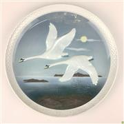 Sale 8562R - Lot 112 - Hutschenreuther Handpainted German Plate 'Heading South' First Edition (2603/5000) (D: 26cm)
