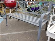 Sale 8740 - Lot 1203 - Metal Two Seater Outdoor Bench