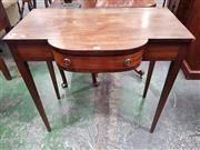 Sale 8814 - Lot 1036 - Georgian Style Mahogany Breakfront Hall Table, fitted with  a drawer & on tapering legs