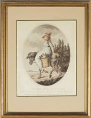 Sale 8870 - Lot 2069 - James Northcot (1746 - 1831) - Country Girl of Tuscany, 1794 23 x 18cm