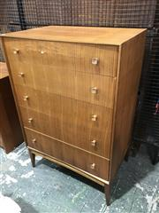 Sale 9039 - Lot 1088 - McIntosh Teak 5 Drawer Chest (H105 x W68 x D46cm)