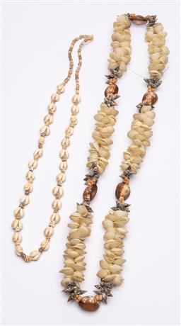 Sale 9170H - Lot 43 - Two shell necklaces including cowrie shells