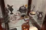 Sale 7977 - Lot 76 - Collection of Metal Wares incl Decanter Labels, Art Nouveau Dressing Table Pieces