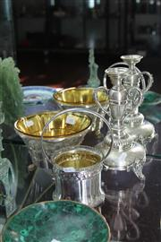 Sale 8189 - Lot 44 - Silver Plated Candlesticks with Other Plated Wares incl. Comports