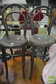 Sale 8326 - Lot 1246 - Five Varied Timber Chairs Incl Pressed Back And Bentwood