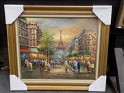 Sale 8417T - Lot 2016 - Artist Unknown (XX) - Parisian Scene 49 x 59cm