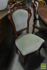 Sale 8480 - Lot 1063 - Set of 8 French Style Upholstered Dining Chairs
