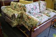 Sale 8566 - Lot 1786 - Pair of Floral Fabric Lounges