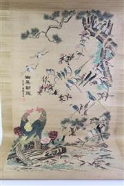 Sale 8766 - Lot 67 - Chinese Scroll 100 Birds In The Garden
