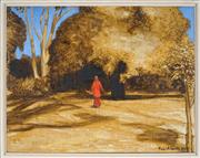 Sale 8903 - Lot 2011 - Tom Alberts (1962 - ) - Park Orange, 2002 25 x 31.5cm