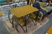 Sale 8058 - Lot 1043 - Metal based Wicker Top Table and 4 Chairs