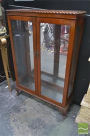 Sale 8262 - Lot 1013 - Raised Display Cabinet with Pie Crust Edge on Cabriole Legs
