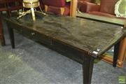 Sale 8412 - Lot 1051 - Timber Coffee Table with Two Drawers