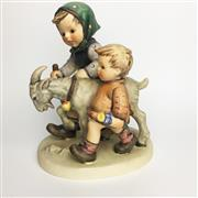 Sale 8456B - Lot 7 - Hummel Figure of a Boy & Girl on a Goat