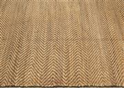 Sale 8709 - Lot 1012 - A very  large herringbone pattern jute rug, W x 370cm x  L approx 525cm