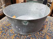 Sale 8769 - Lot 1094 - Large Galvanised Bucket
