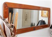 Sale 8902H - Lot 35 - A Lee Sal Monde timber framed rectangular mirror, ex Coco Republic. Height 59cm, Width 152cm