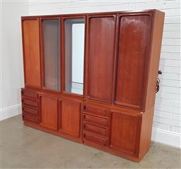 Sale 9188 - Lot 1176 - Chiswell four piece wall unit (h165 x w186 x d44cm)