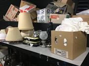 Sale 8759 - Lot 2442 - Sundries incl Food Platter, Lamp Bases & Shades