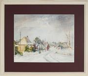 Sale 8891 - Lot 2084 - Lillie Lowe - Snow at Forbes Road, Orange 33 x 43 cm