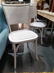 Sale 8979 - Lot 1068 - Set of Six Close Weave Dining Chairs in White (H:88 x W:45 x D:48cm)