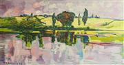 Sale 9011 - Lot 2013 - Paul Robinson Afternoons Purple Light on the Hawkesbury 2008 oil on canvas, 51 x 95cm (frame) signed -