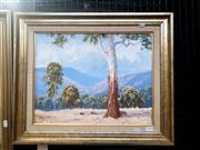 Sale 9061 - Lot 2024 - Henry Dunne, Gum Study, Tombong, NSW, oil on canvas board, frame: 48 x 58 cm, signed lower left