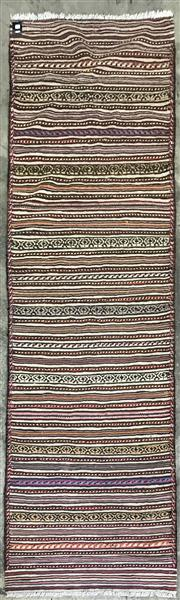 Sale 9071 - Lot 1058 - Hand Knotted Pure Wool Persian Kilim (275 x 84cm)
