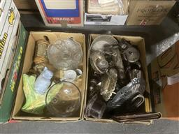 Sale 9101 - Lot 2201 - Two Boxes of Sundries Incl Silverplated wares
