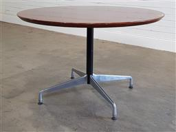 Sale 9188 - Lot 1019 - Eames table base with retro fitted top (h:77 x d:120cm)