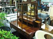 Sale 7937A - Lot 1168A - Carved Timber Mirrored Back Dressing Table