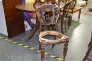 Sale 7981A - Lot 1045 - Set of 4 Victorian Mahogany Dining Chairs on Fluted Legs