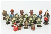 Sale 8417 - Lot 46 - Cast Metal Santa Claus Figures with Others