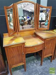 Sale 8447 - Lot 1013 - Dressing table with Wing Mirror