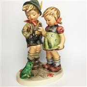 Sale 8456B - Lot 11 - Hummel Figure of a Boy & Girl with a Frog