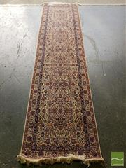Sale 8489 - Lot 1097 - Persian Fine Wool Hand Knotted Hall Runner (320 x 78cm)