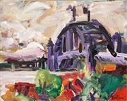 Sale 8565A - Lot 5115 - Peter Griffen (1948 - ) - The Bridge from Observatory 39 x 49cm