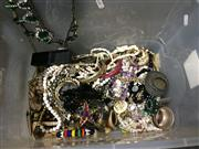 Sale 8659 - Lot 2279 - Tub of Dress Jewellery