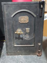 Sale 8705 - Lot 1006 - Small Victorian Safe SF Turner (key in office)